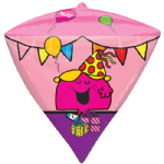 "17"" Little Miss and Friends Diamondz Foil Balloons"